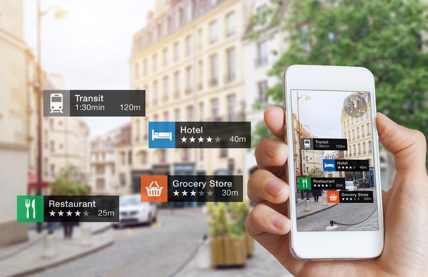 La realidad aumentada ofrece al viandante una enorme cantidad de información sobre lo que le rodea