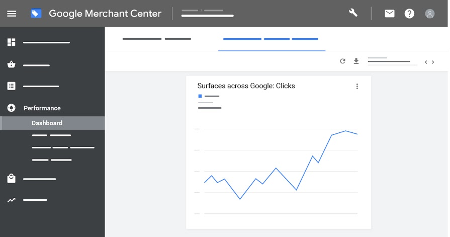 Specific report to quantify your free traffic results directly on your Merchant Center