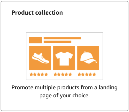 Product collection: Amazon Sponsored Ads