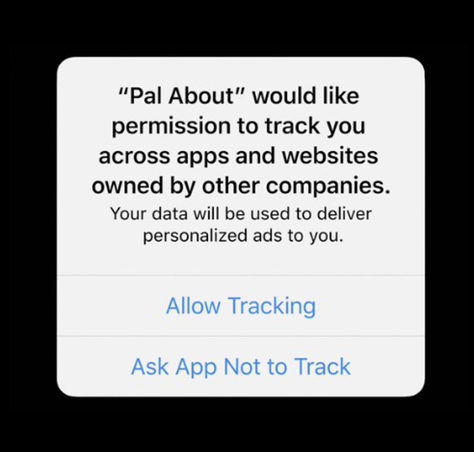 Captura del mensaje que se le mostrará al usuario