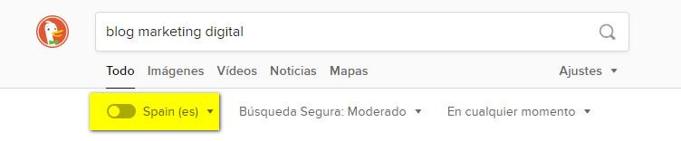 DuckDuckGo no tiene en cuenta el historial de búsquedas ni los datos del usuario para clasificar los resultados